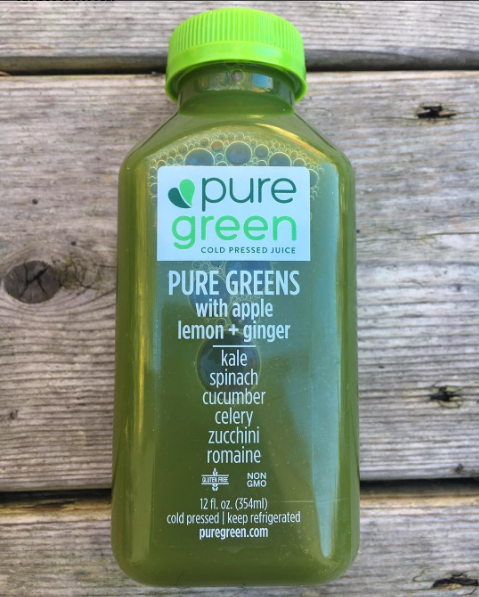 pure green juice in NYC