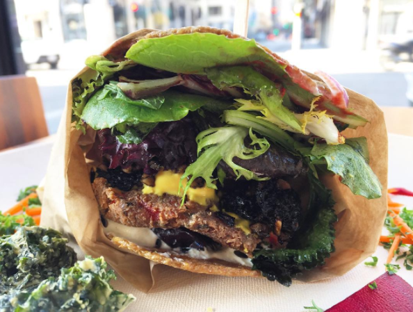 Wild Living Foods Portobello burger