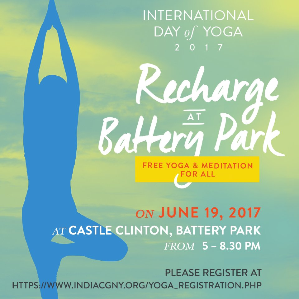 International Yoga Day 2017 at Battery Park City