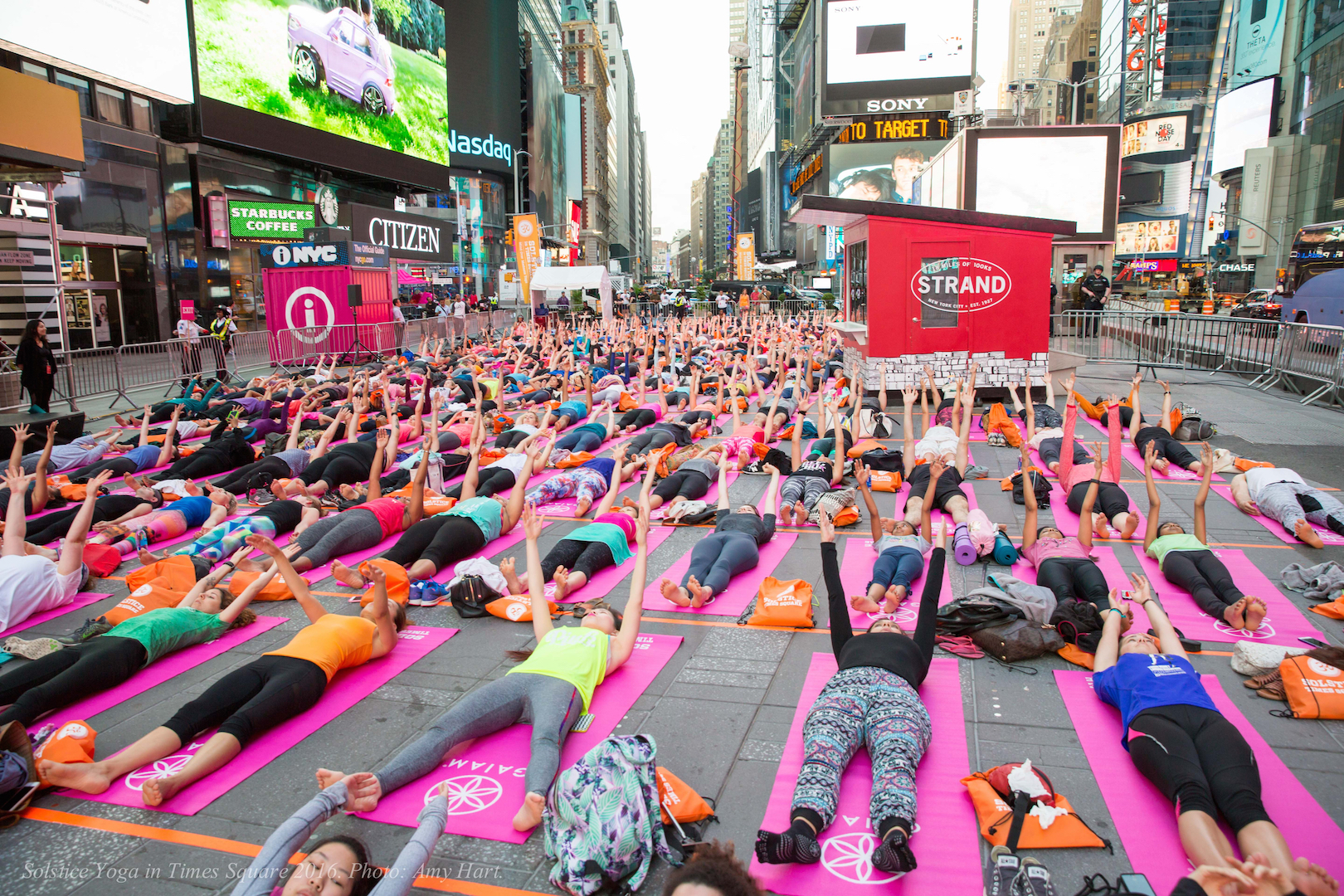 Solstice in Times Square: Mind Over Madness Yoga Presented by Aerie Schedule