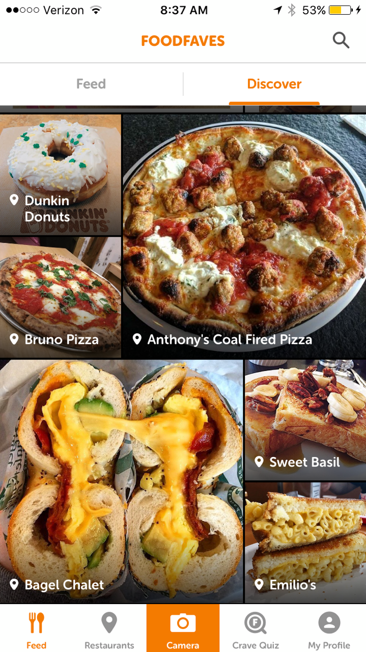 FoodFaves App cravings