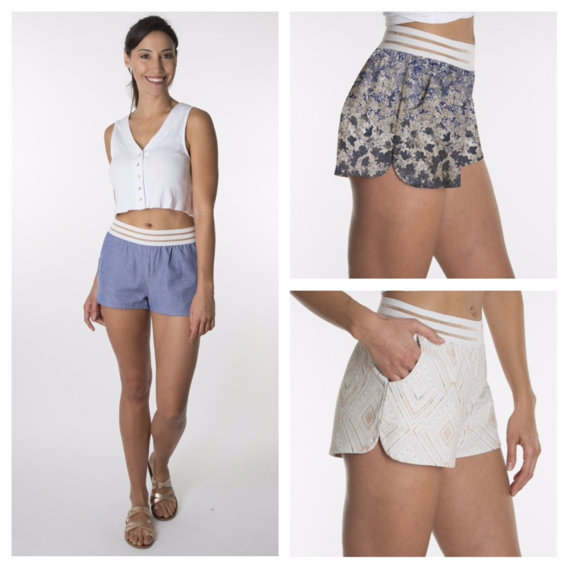 virtue + vice ethical fashion shorts
